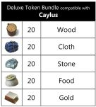 Set of 79 Deluxe Token Bundle Compatible with Teotihuacan